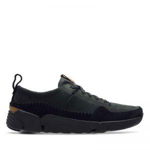 Мъжки черни спортни обувки Кларкс / Clarks Tri Active Run външен поглед отстрани