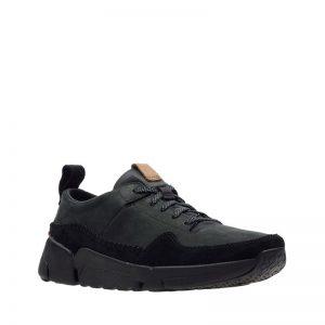 Мъжки черни спортни обувки Кларкс / Clarks Tri Active Run външен поглед отпред