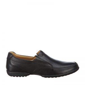 мъжки черни кожени обувки Кларкс / Clarks Recline Free външен изглед отстрани