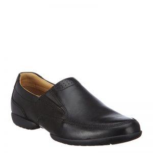 мъжки черни кожени обувки Кларкс / Clarks Recline Free външен изглед отпред