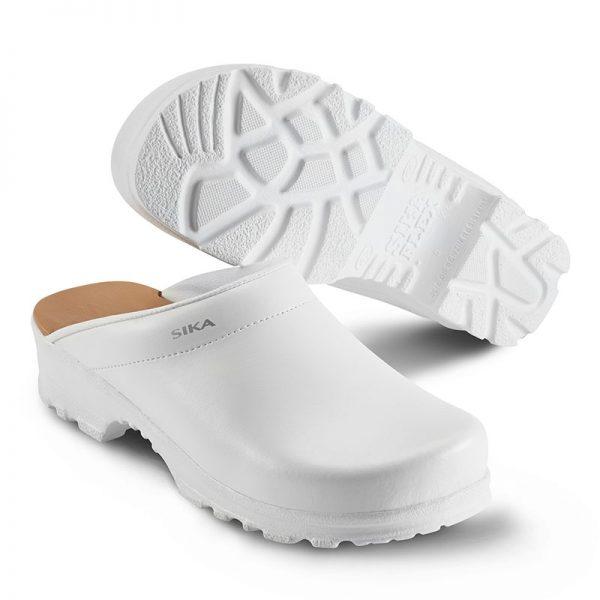 работно сабо Сика / Sika Footwear Flex LBS 8105 - бяло от естествена кожа