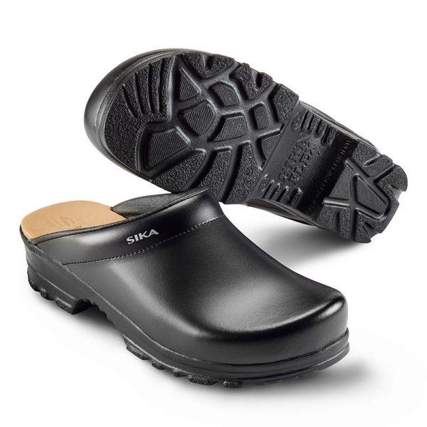професионално работно сабо Сика / Sika Footwear Flex LBS 8105 - черно от естествена кожа