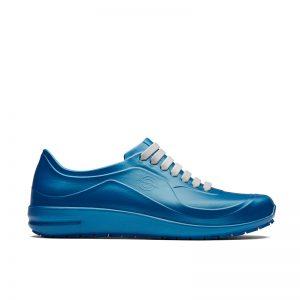 професионални работни обувки УеърърТек / WearerTech Energise сини поглед отстрани