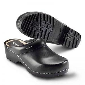 черно сабо Сика / Sika Footwear Traditional от естествена кожа