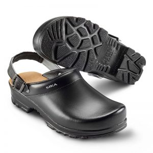 професионално работно сабо Сика / Sika Footwear Flex LBS 8185 - черно от естествена кожа