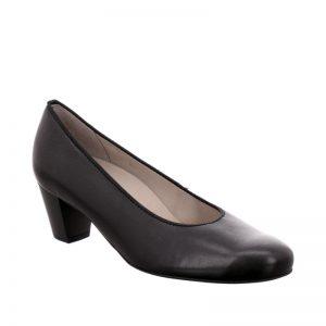 дамски черни елегантни обувки на ток ara Turin външен поглед отпред