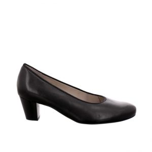 дамски черни елегантни обувки на ток ara Turin поглед отстрани