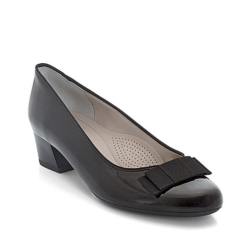 дамски черни обувки на ток с пандела Ара Nizza външен изглед отпред