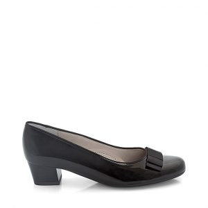 дамски черни обувки на ток с пандела Ара Nizza външен изглед отстрани