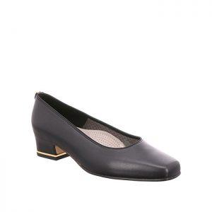 Дамски обувки на ток Ара / ara 12-41859-01 - ест. кожа, черни външен поглед отпред