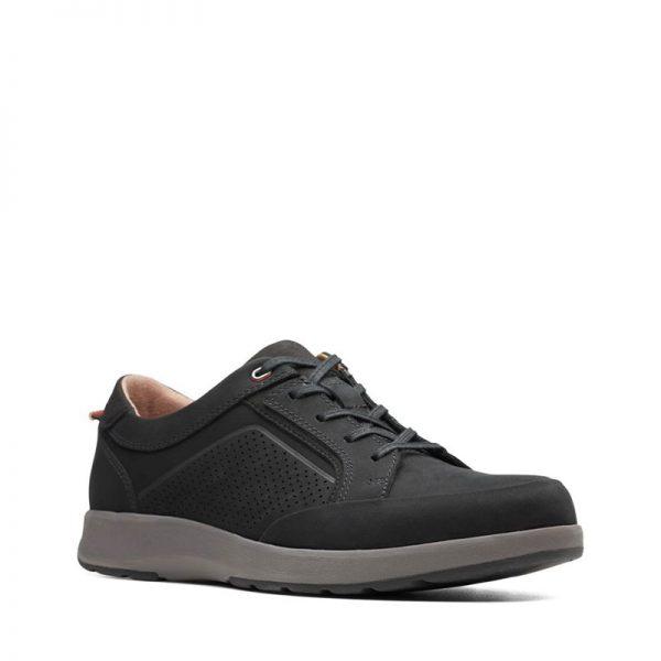 Мъжки ежедневни обувки Кларкс / Un Trail Form - черни страничен поглед отпред