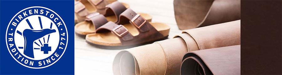 BIRKENSTOCK - корица с чехли, кожи и знакът за традиции на марката