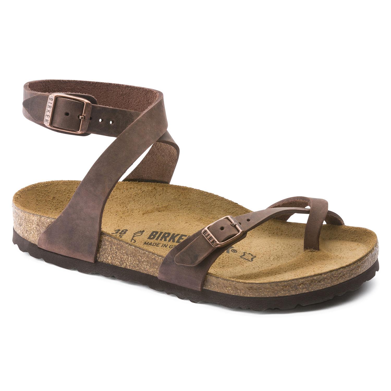 476c103a045 ... Дамски кожени сандали Биркенщок / BIRKENSTOCK Yara Oiled Leather –  кафяви. Previous Next