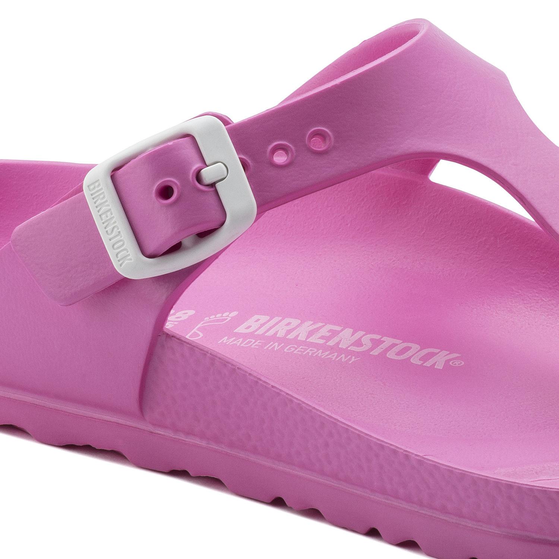 Дамски чехли / джапанки Биркенщок / BIRKENSTOCK Gizeh EVA Neon Pink 0128341 цвят розов неон детайл катарама