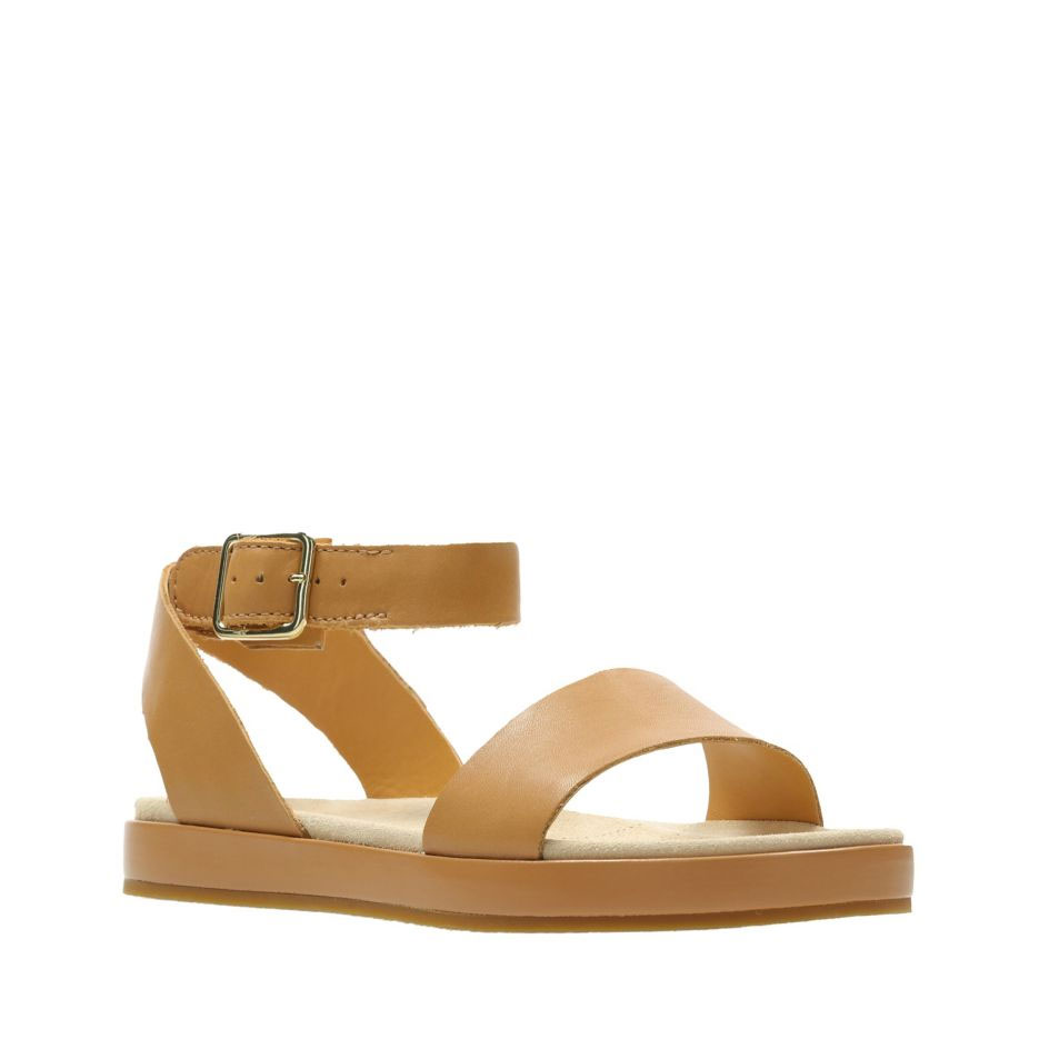 50328dc3e63 Дамски кожени сандали Кларкс / Clarks Botanic Ivy - кафяви | kloG.bg