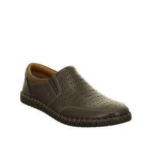 Мъжки черни перфорирани обувки от естествена кожа Ара / ara 11-17401-01