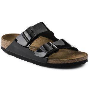 Дамски чехли Биркенщок Arizona BF - черни поглед отпред