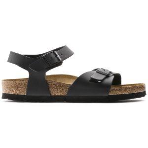 Дамски черни сандали BIRKENSTOCK Rio BF страничен поглед отстрани