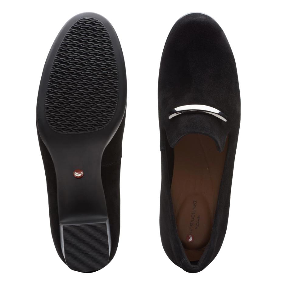 Дамски обувки на ток Кларкс / Clarks Un Damson Lane поглед отгоре и отдолу подметка