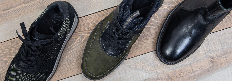 визия с три модела мъжки обувки ara