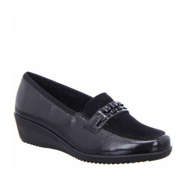 дамски ежедневни кожени обувки с топла подплата Ара / ara 12-40623-61 външен поглед отпред