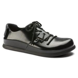 мъжки обувки Биркенщок / BIRKENSTOCK Montana LL - искрящо черни поглед отпред