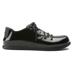 мъжки обувки Биркенщок / BIRKENSTOCK Montana LL - искрящо черни поглед отстрани