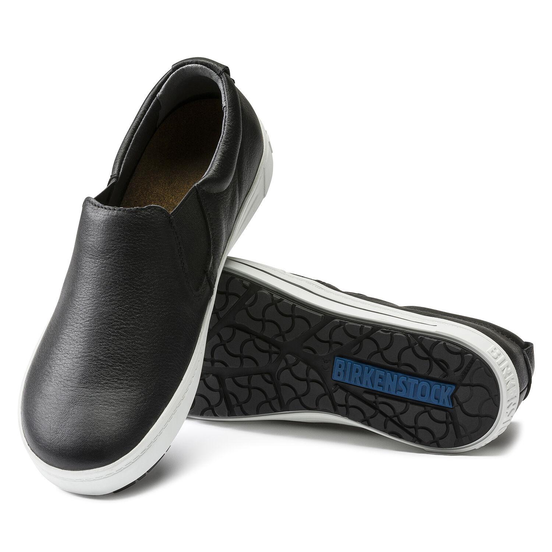 чифт работни обувки без връзки от ест. кожа Birkenstock QO 400 NL черни подметка