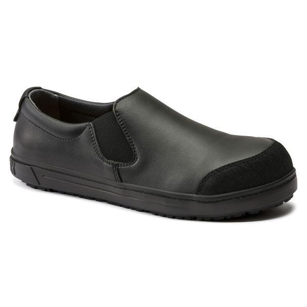 професионални работни обувки без връзки с ластик BirkenStock QS 400 черни поглед отпред