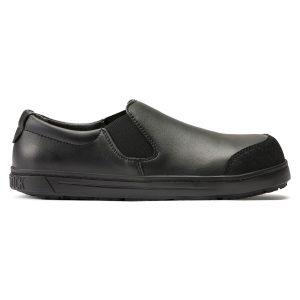 професионални работни обувки без връзки с ластик BirkenStock QS 400 черни поглед отстрани
