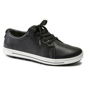 професионални работни обувки от ест. кожа Биркенщок / Birkenstock QO 500 NL черни поглед отпред