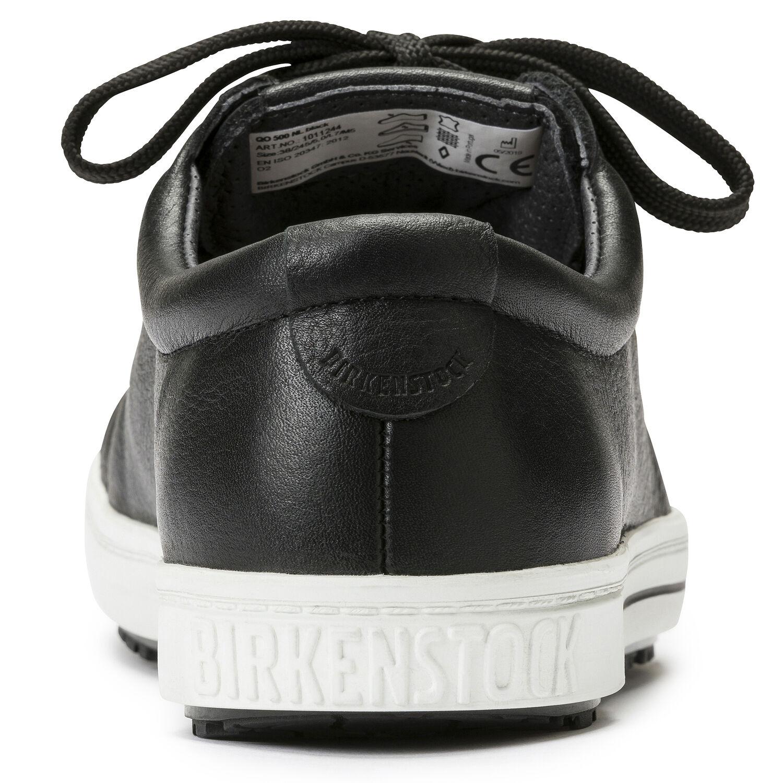 професионални работни обувки от ест. кожа Биркенщок / Birkenstock QO 500 NL черни поглед отзад