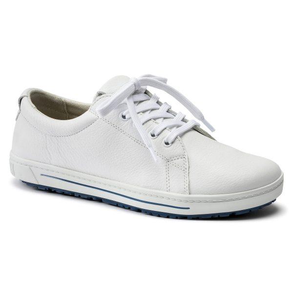 бели професионални работни обувки от ест. кожа Биркенщок / Birkenstock QO 500 NL поглед отпред