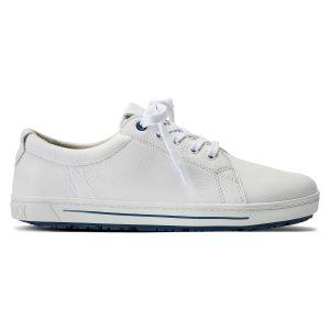 бели професионални работни обувки от ест. кожа Биркенщок / Birkenstock QO 500 NL поглед отстрани