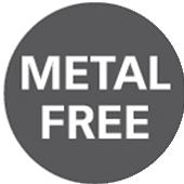 знак за липса на метални частици против статично електричество