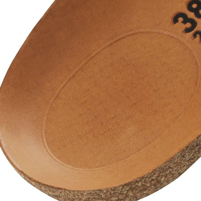 детайл легло на петата анатомична стелка на професионални обувки от ест. кожа Birkenstock QO 700 NL