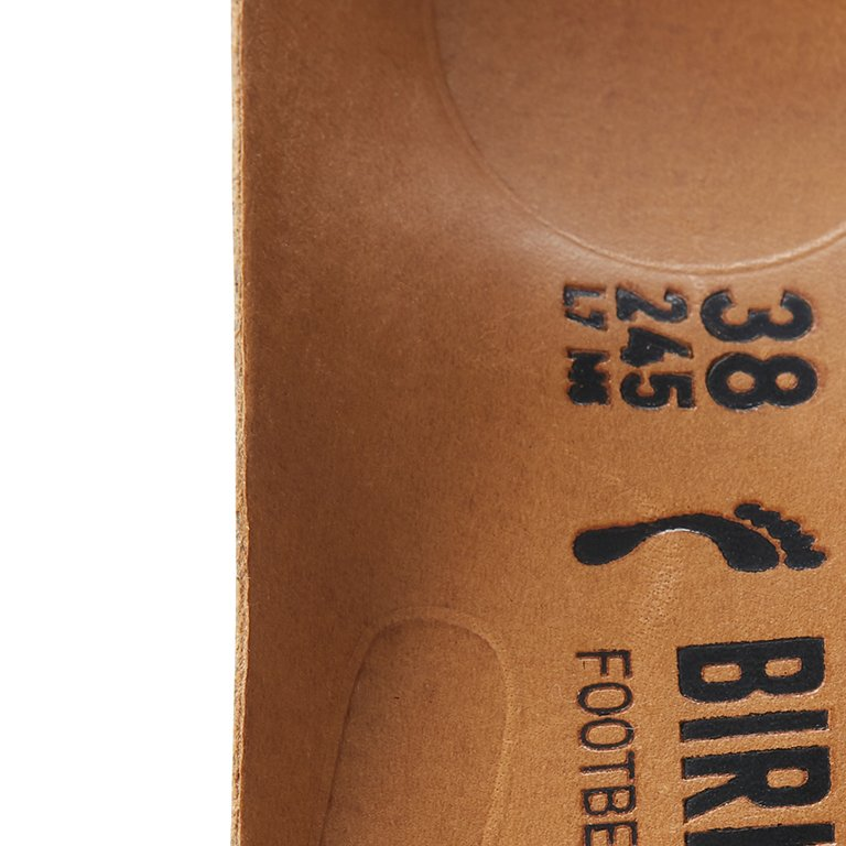 детайл издаден праг пред петата на стелка на професионални обувки от ест. кожа Birkenstock QO 700 NL