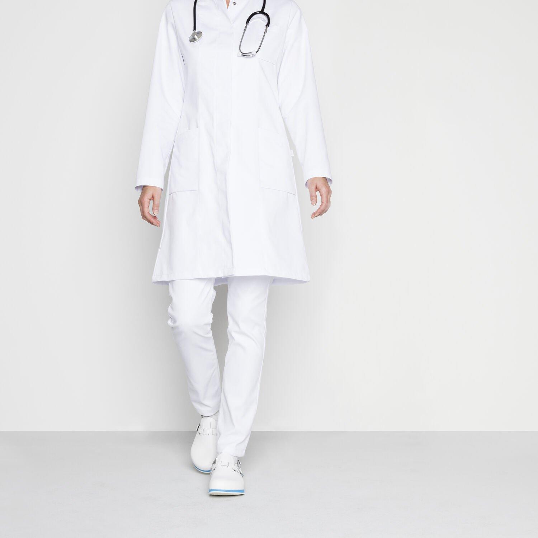 Професионални работни чехли Birkenstock Kay SL SF SG - бели с медицинска униформа