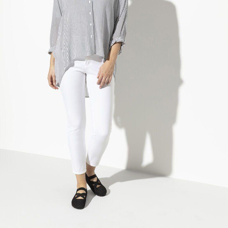 чифт дамски обувки с ластици BIRKENSTOCK Santa Ana - черни обути на дамски модел