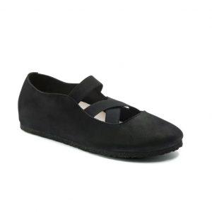 Дамски обувки с ластици BIRKENSTOCK Santa Ana - черни поглед отпред