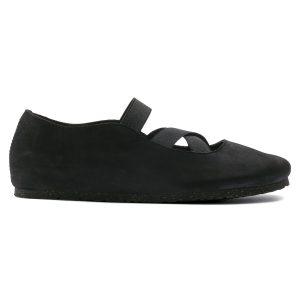 Дамски обувки с ластици BIRKENSTOCK Santa Ana - черни поглед отстрани