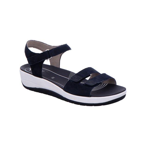 Дамски кожени сандали с велкро Ара / ara 12-25930-72 - тъмно сини