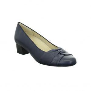 Дамски елегантни обувки на ток Ара / ara 12-35811-07 - ест. кожа, т. сини