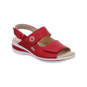 Червени кожени сандали с велкро Ара / ara 12-56514-07