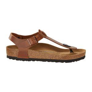 Дамски кожени сандали Биркенщок / BIRKENSTOCK Kairo FL - кафяви поглед отстрани