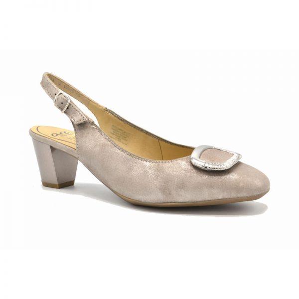 Дамски елегантни отворени обувки от ест. кожа на ток Ара / ara 12-18010-05 поглед отпред