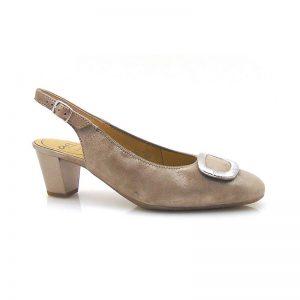 Дамски елегантни отворени обувки от ест. кожа на ток Ара / ara 12-18010-05 поглед отстрани