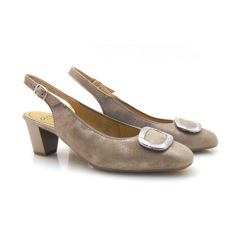 чифт дамски елегантни отворени обувки от ест. кожа на ток Ара / ara 12-18010-05