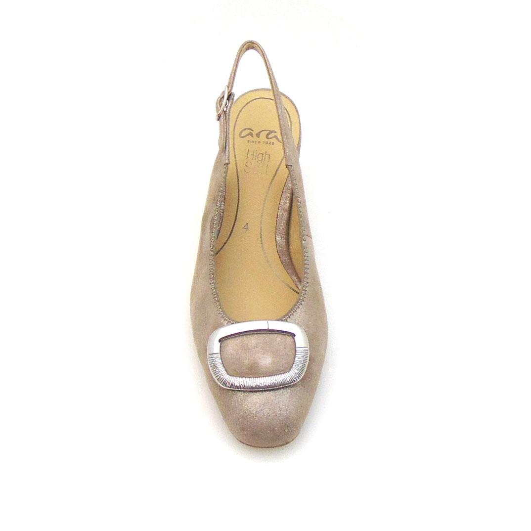 Дамски елегантни отворени обувки от ест. кожа на ток Ара / ara 12-18010-05 поглед отгоре