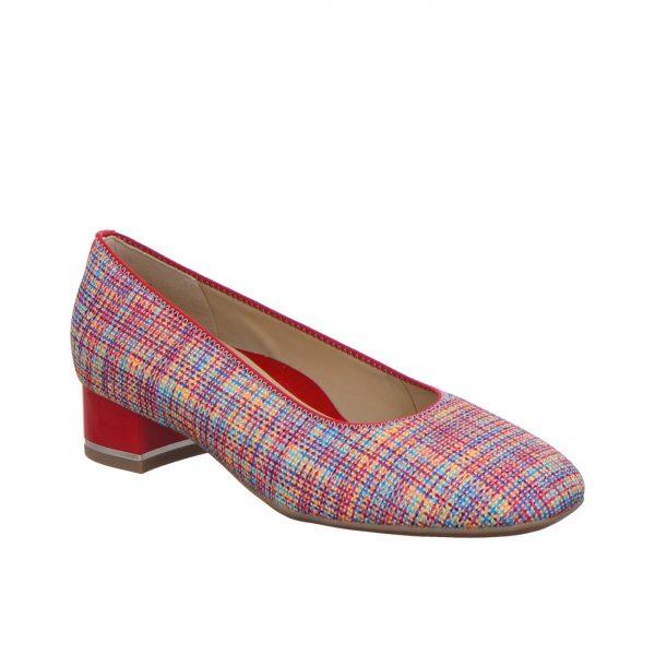 Дамски елегантни обувки на ток ara 12-11838-40 - шарени поглед отсрани